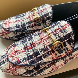 NIB Gucci jordaan tweed size 6.5